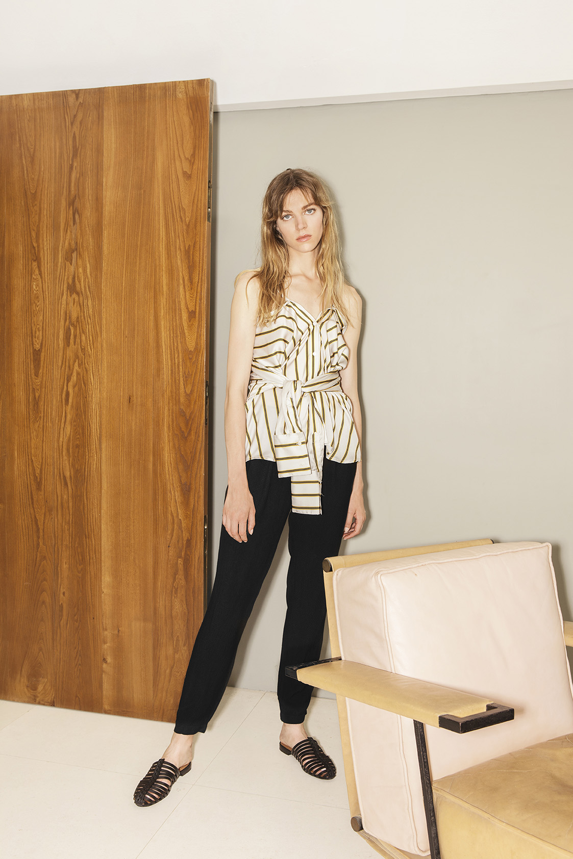 Two way tie striped shirt - 21290, Trousers - 21315